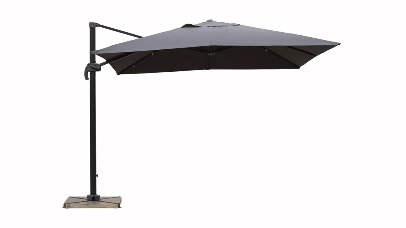 le parasol d port 3x3 sous toutes les coutures. Black Bedroom Furniture Sets. Home Design Ideas